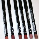 NYX Lip Liner Pencils in Darker Colors